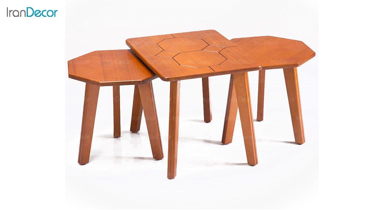 میز عسلی سه تکه بهار نارنج مدل نیشا