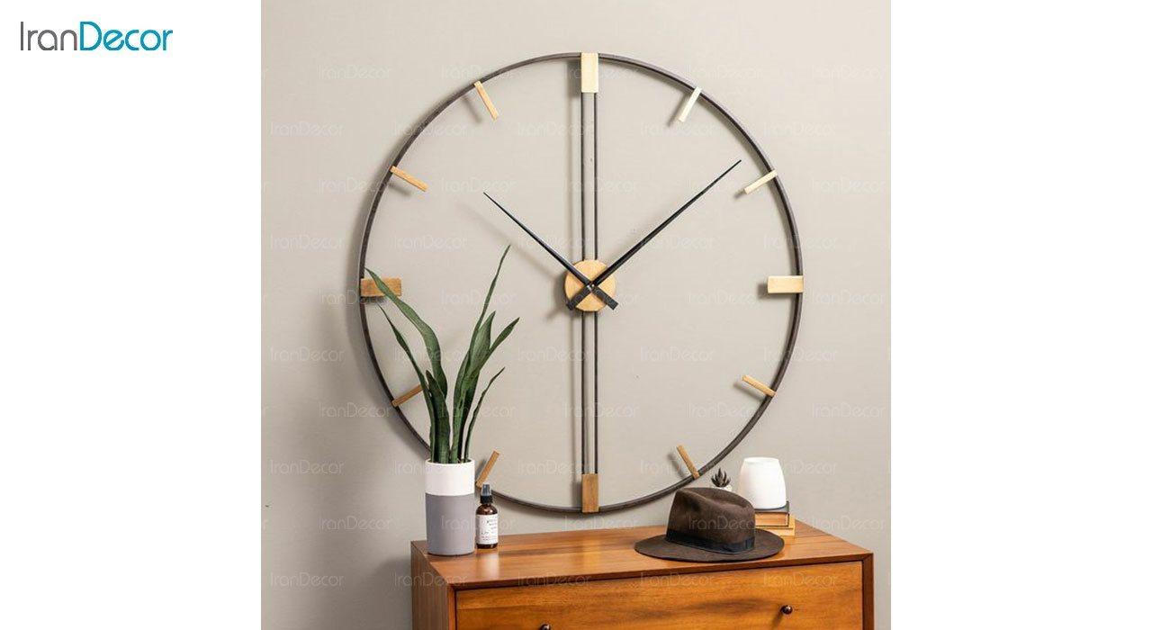 ساعت دیواری فلزی رویال مدل MZ115