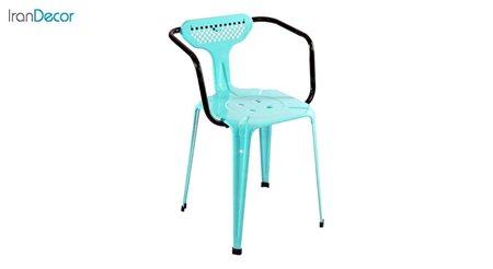 صندلی دسته دار فلزی دو رنگ نهال سان مدل بیتا