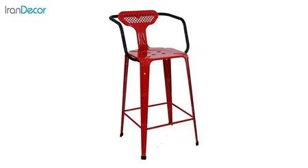 صندلی اپن دسته دار فلزی دو رنگ نهال سان مدل بیتا