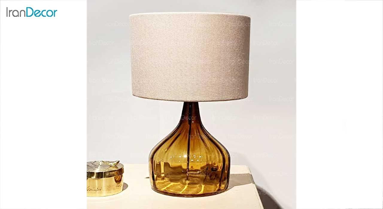 آّباژور رومیزی شیشه ای برسام مدل برشی