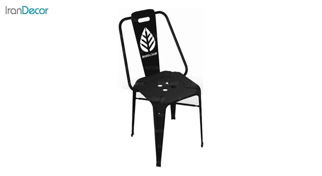 صندلی فلزی نهال سان مدل نوید طرح برگ