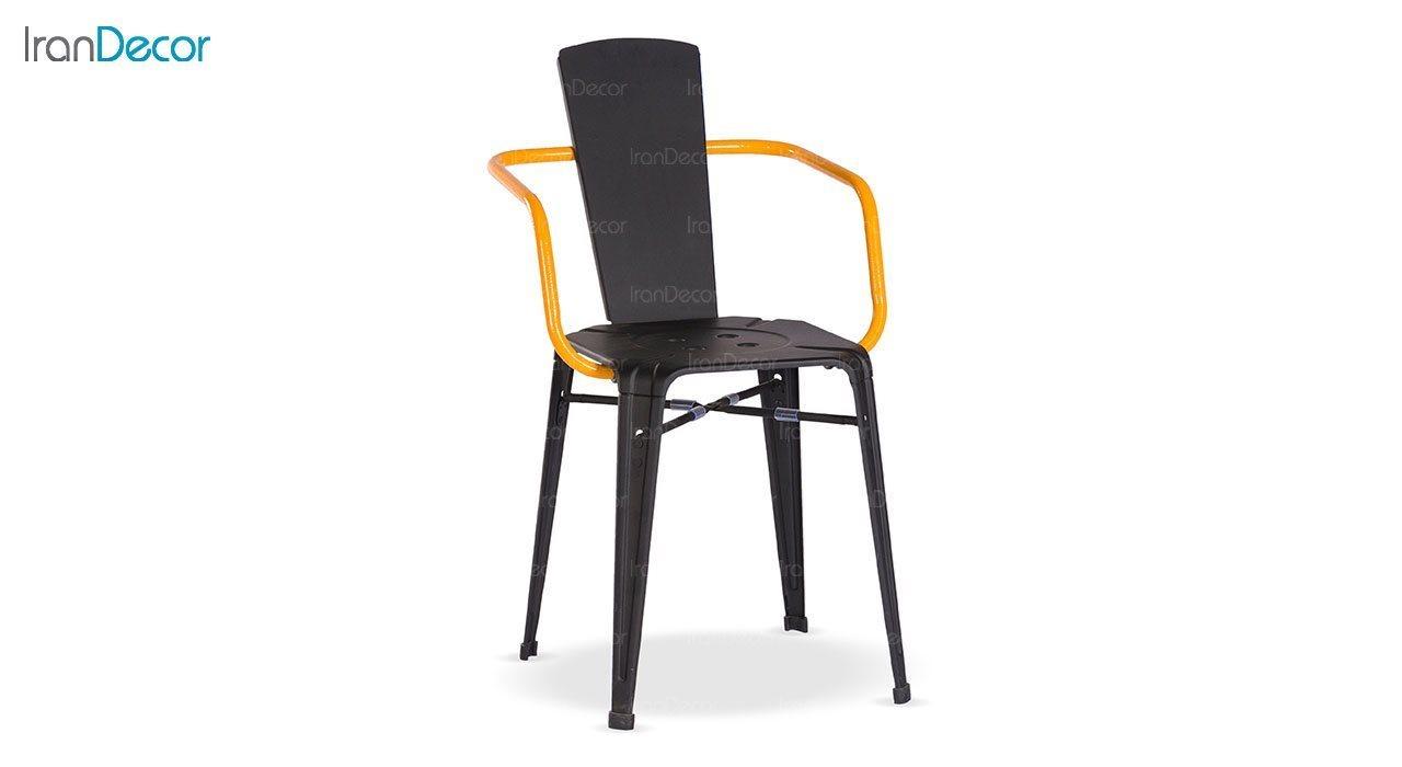 صندلی دسته دار فلزی دو رنگ نهال سان مدل تیام