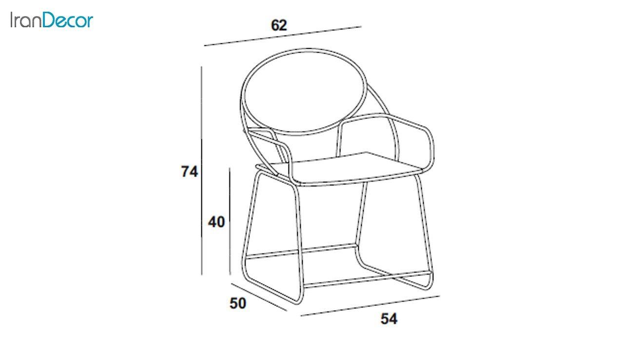 صندلی فلزی نهال سان مدل پاندا کد 111