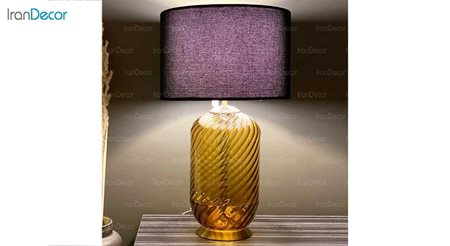آّباژور رومیزی شیشه ای برسام مدل استوانه ای