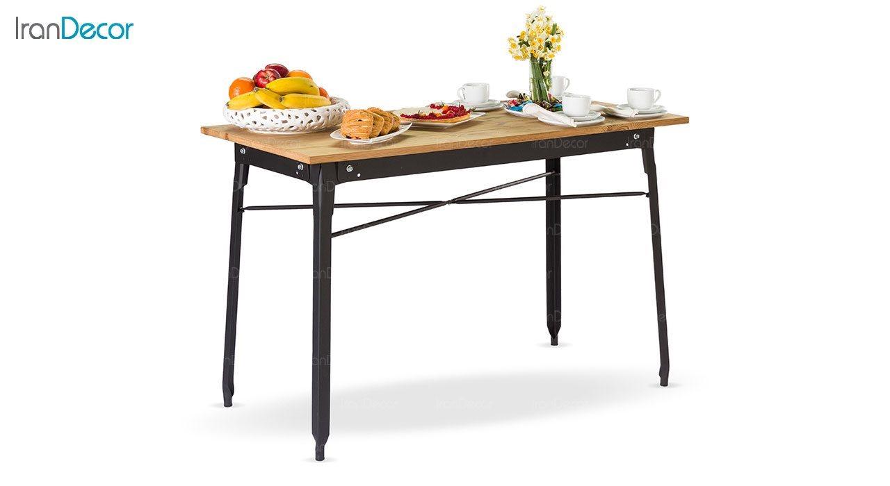 میز بار فلزی با صفحه ترمو وود نهال سان کد 622