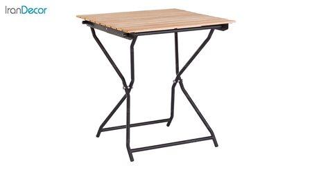 میز فلزی تاشو با صفحه ترمو وود نهال سان کد 661