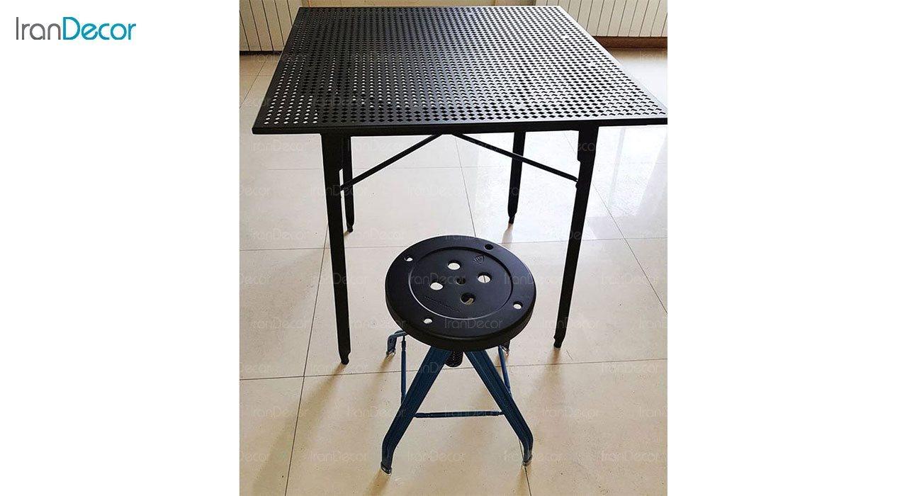 میز فلزی با صفحه پانچ نهال سان مدل پاراکس کد 121