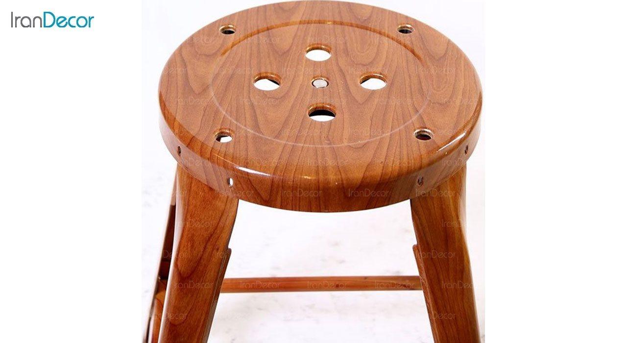 چهار پایه فلزی طرح چوب نهال سان