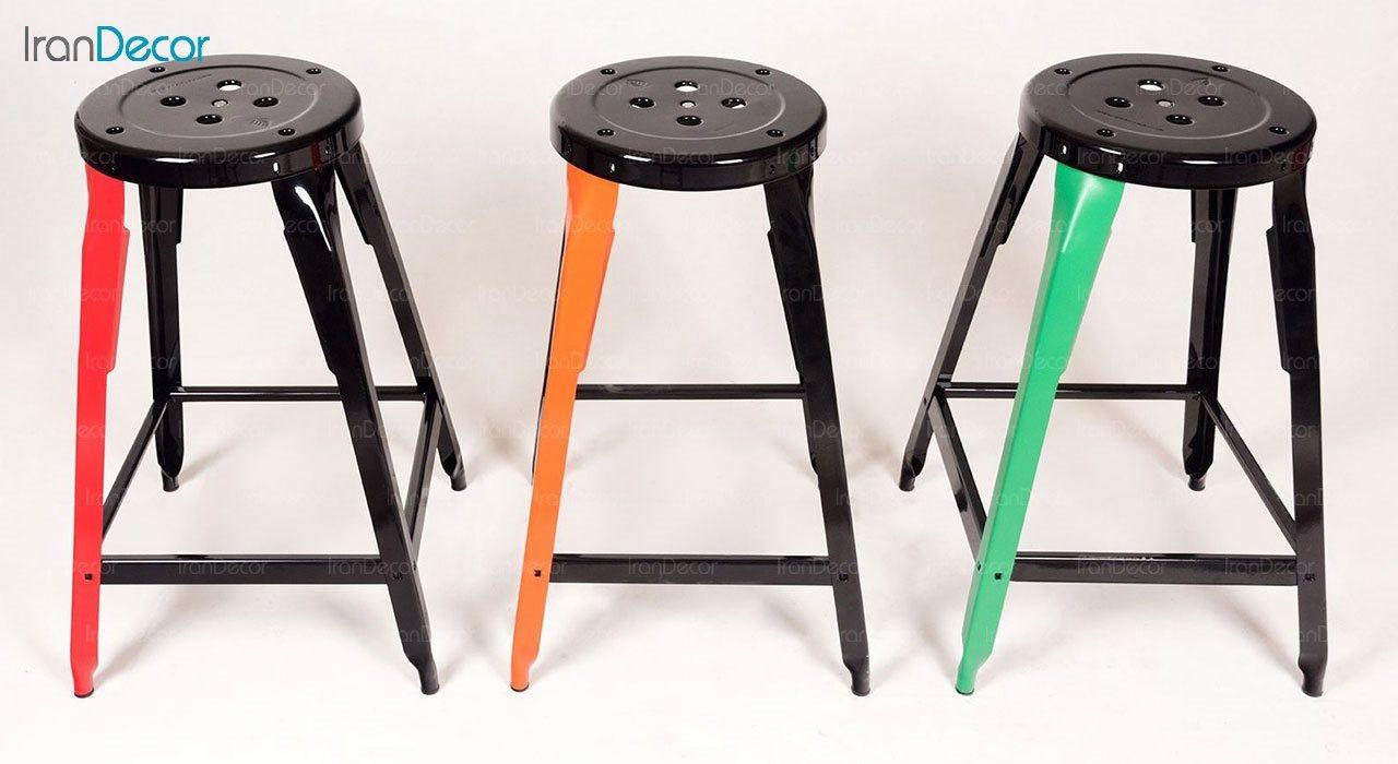 چهار پایه فلزی رنگارنگ نهال سان ارتفاع 60 سانتی متر