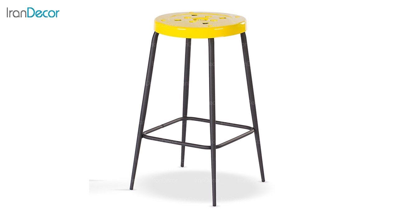 چهارپایه فلزی دو رنگ نهال سان مدل پلیکان
