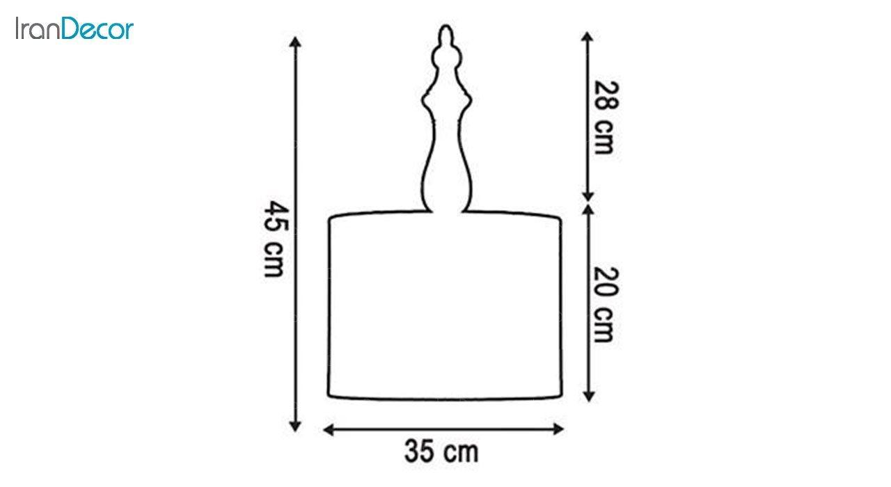 چراغ آویز چوبی آرام مدل A7020/14
