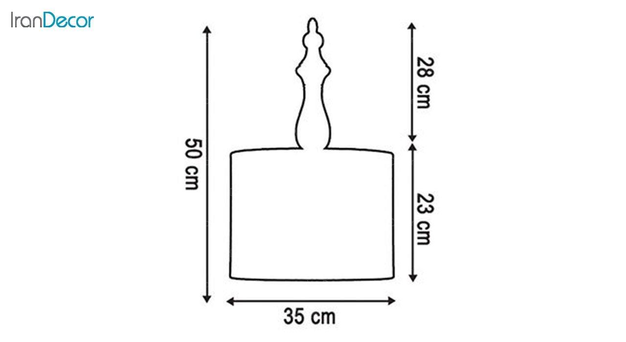 چراغ آویز چوبی آرام مدل A7020/17