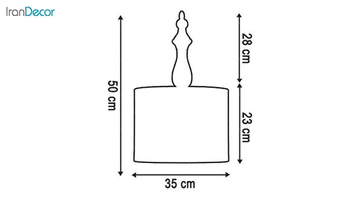 چراغ آویز چوبی آرام مدل A7020/20