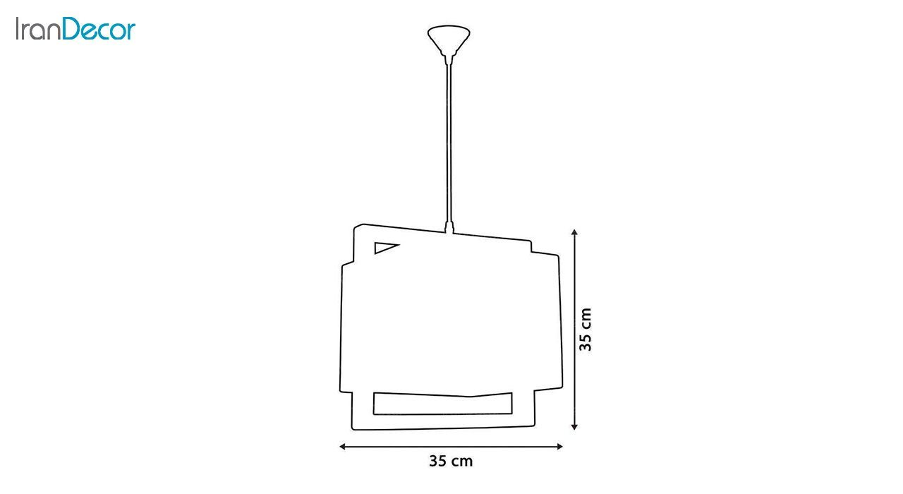 چراغ آویز چوبی آرام مدل A7034/18