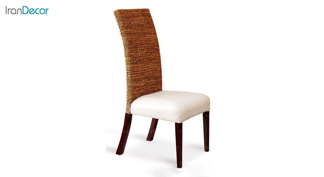 صندلی ناهار خوری پارسا مدل اورنگ با پشتی کنفی