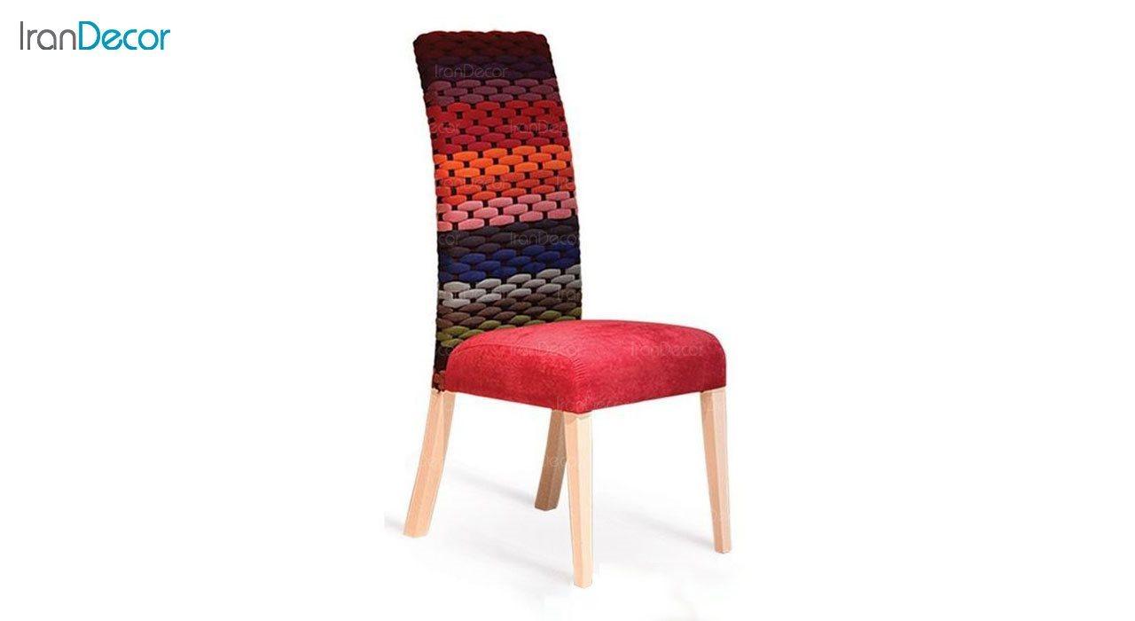 صندلی ناهار خوری پارسا مدل اورنگ با پشتی بافتنی