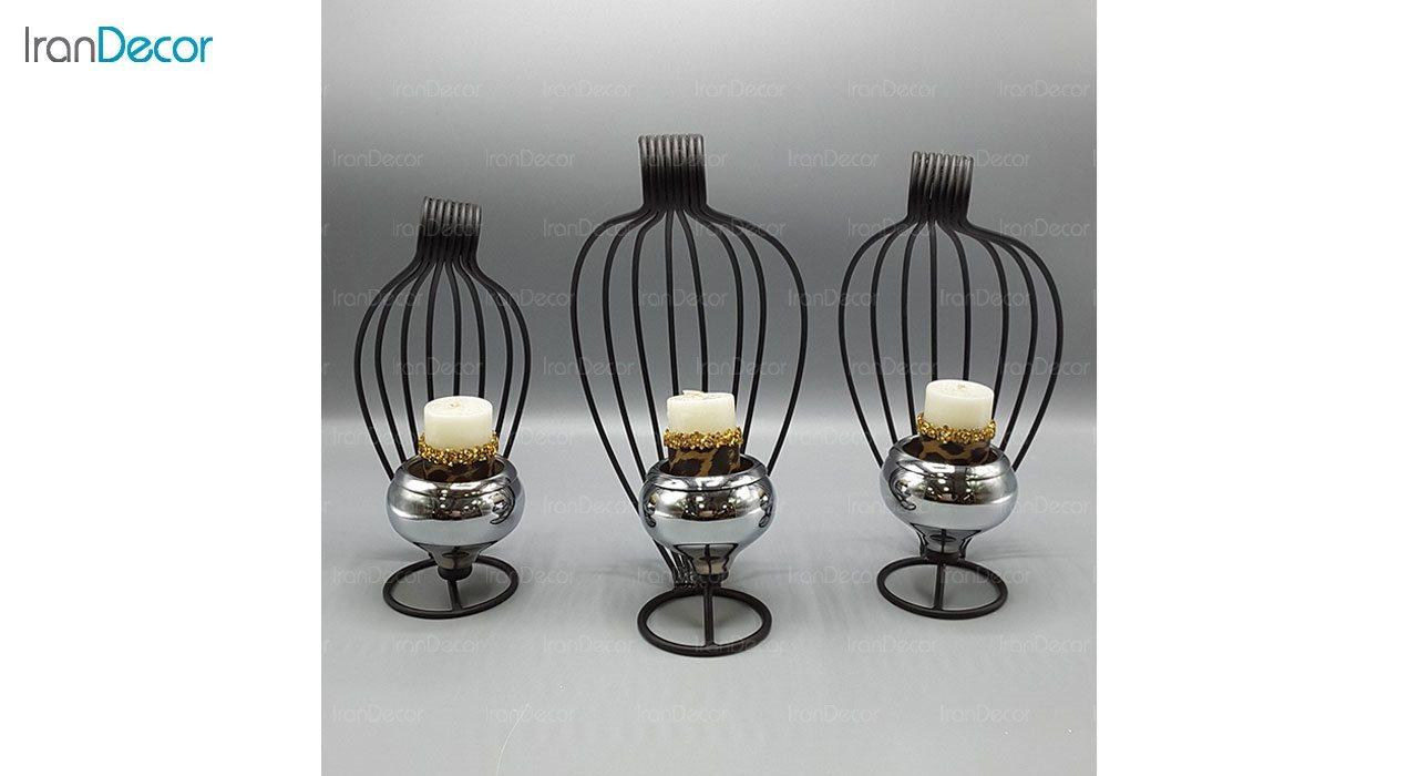 ست شمعدان مدل طاووس 101125