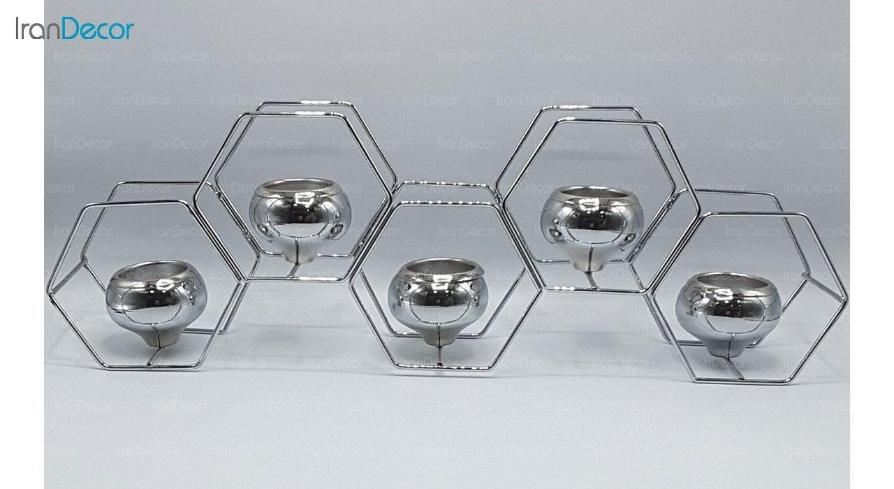 شمعدان پنج شعله مدل شش ضلعی 100026