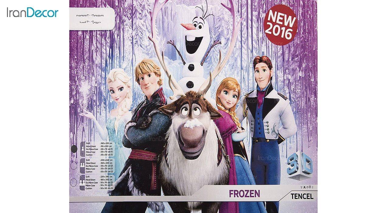 ست روتختی دخترانه نرم آسا مدل فروزن Frozen