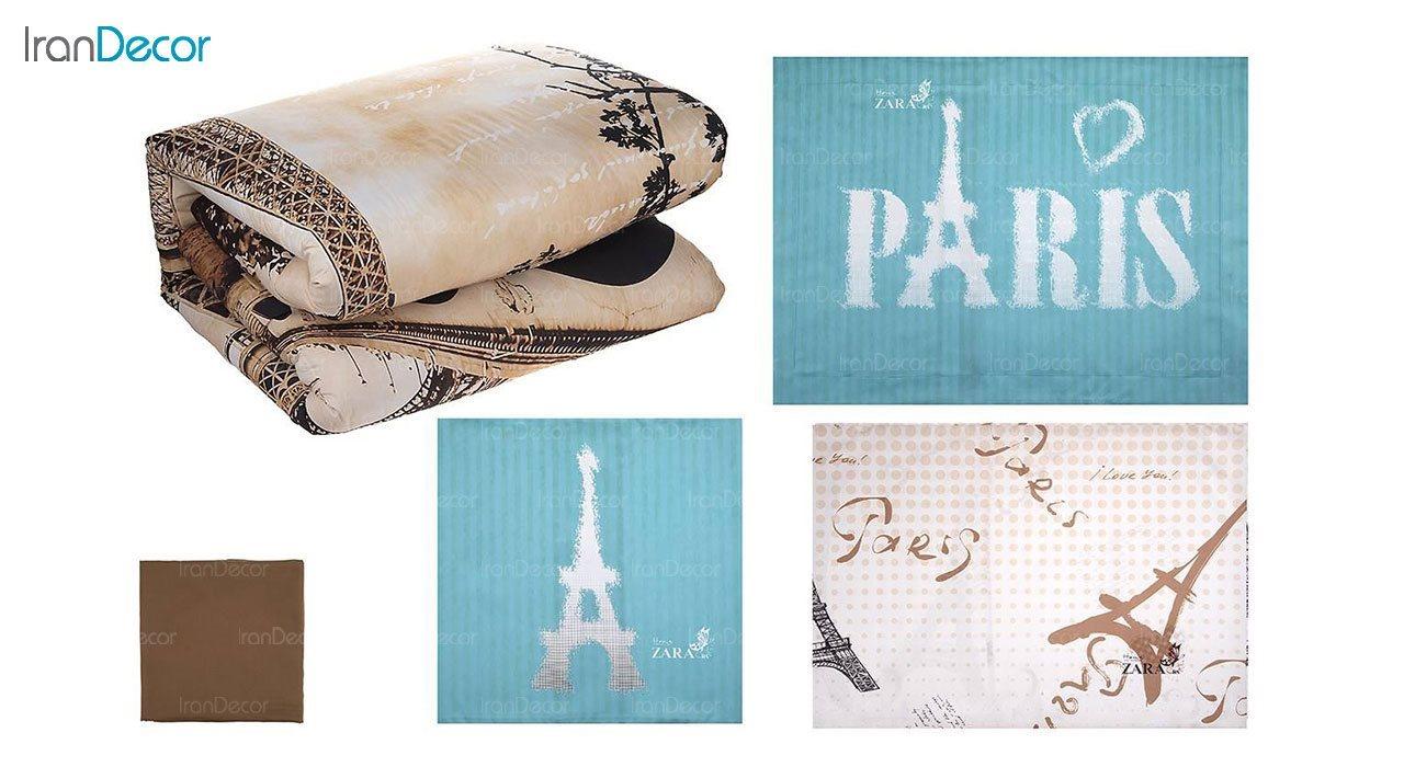 ست روتختی تنسل نرم آسا مدل برج ایفل Eiffel Tower