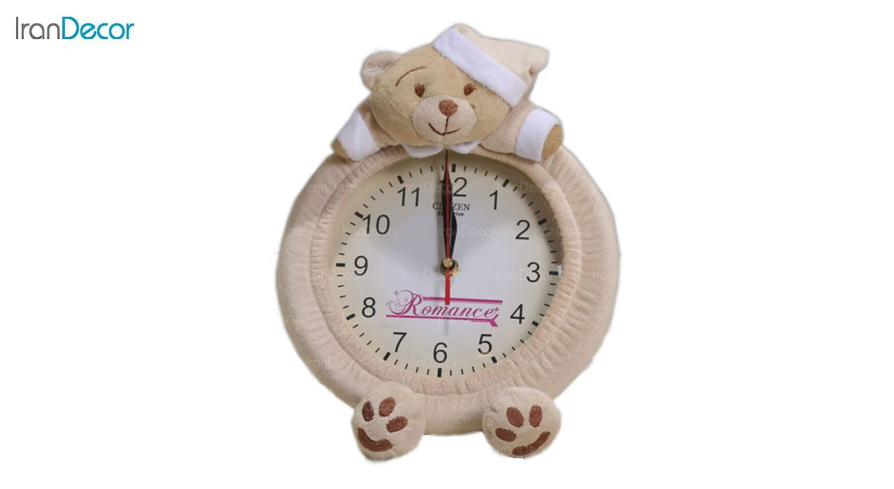 ساعت دیواری عروسکی رومنس طرح خرس