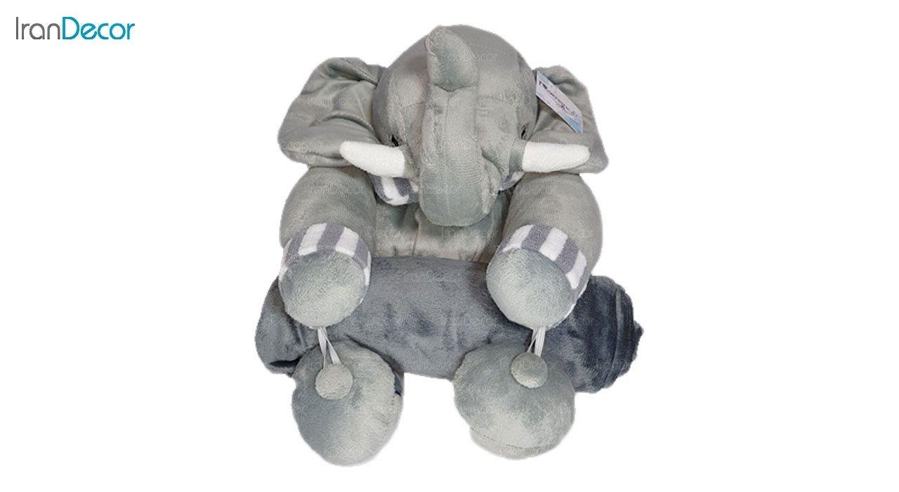 تصویر پتو عروسکی رومنس طرح فیل