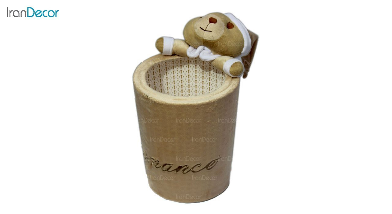 تصویر سطل زباله عروسکی رومنس طرح خرس