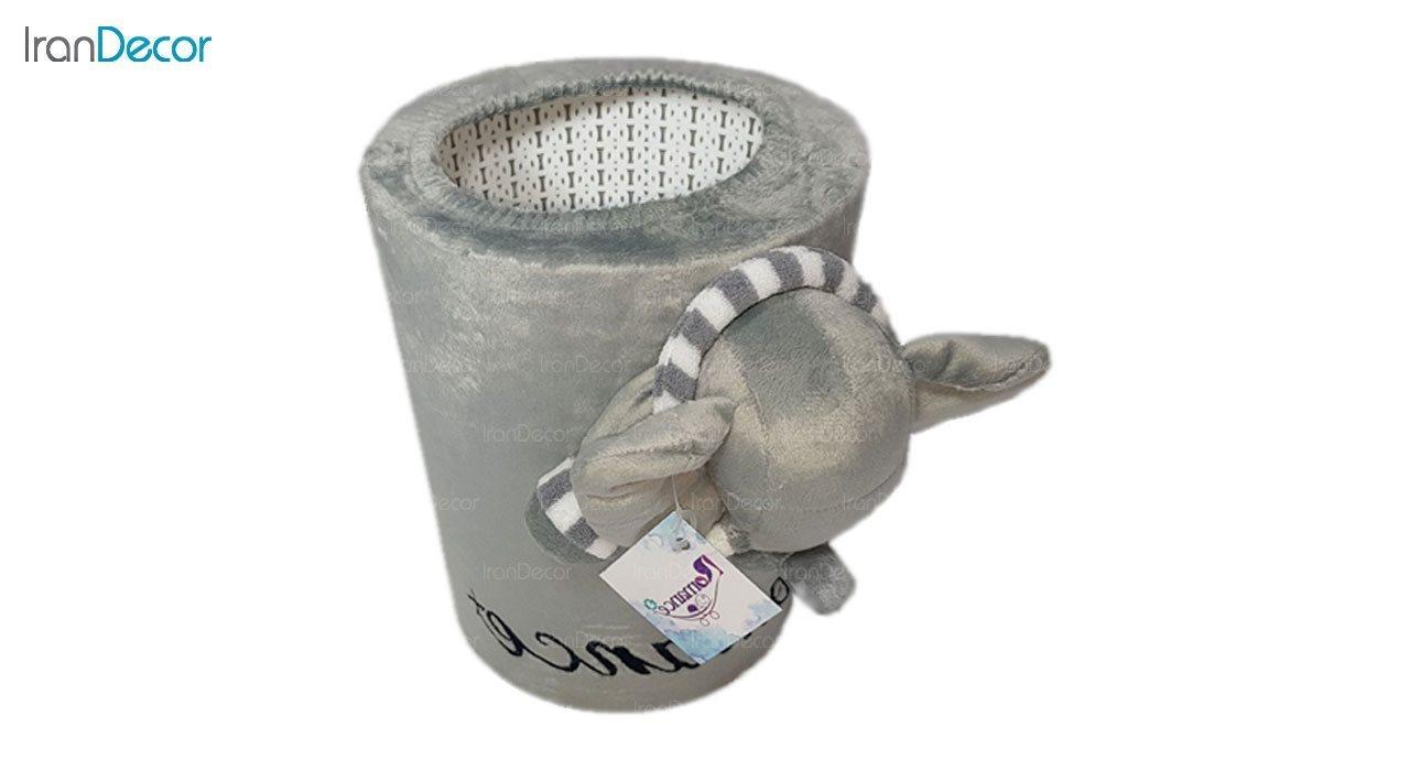 تصویر سطل زباله عروسکی رومنس طرح فیل