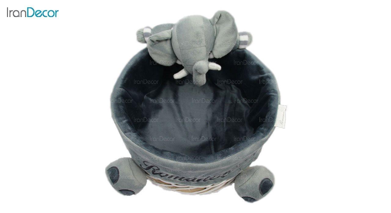 تصویر سبد عروسکی رومنس طرح فیل کد 2