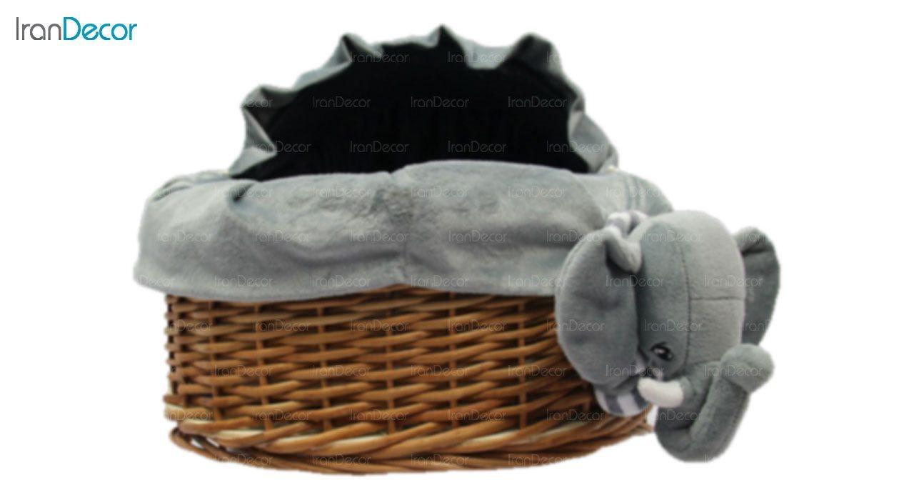 سبد حمل نوزاد عروسکی رومنس طرح فیل