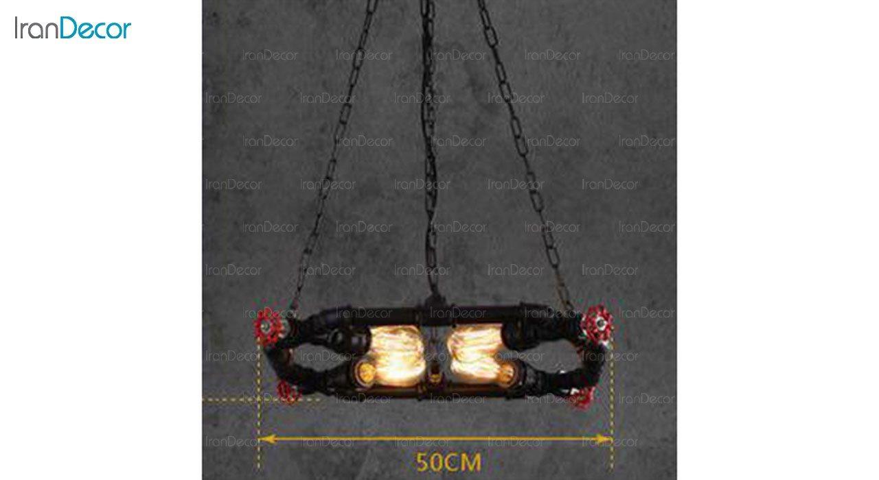 تصویر چراغ آویز مدرن 4 شعله آرتا مدل پایپ کد 130/4
