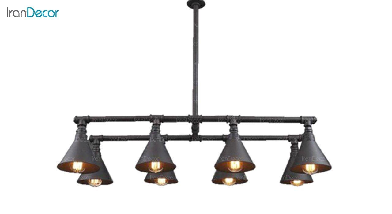 چراغ سقفی مدرن 8 شعله آرتا مدل پایپ کد 134/8
