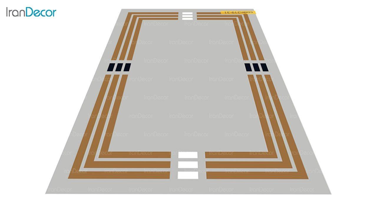 تصویر فرش مدرن برنتین طرح یونیک مدل 219-31