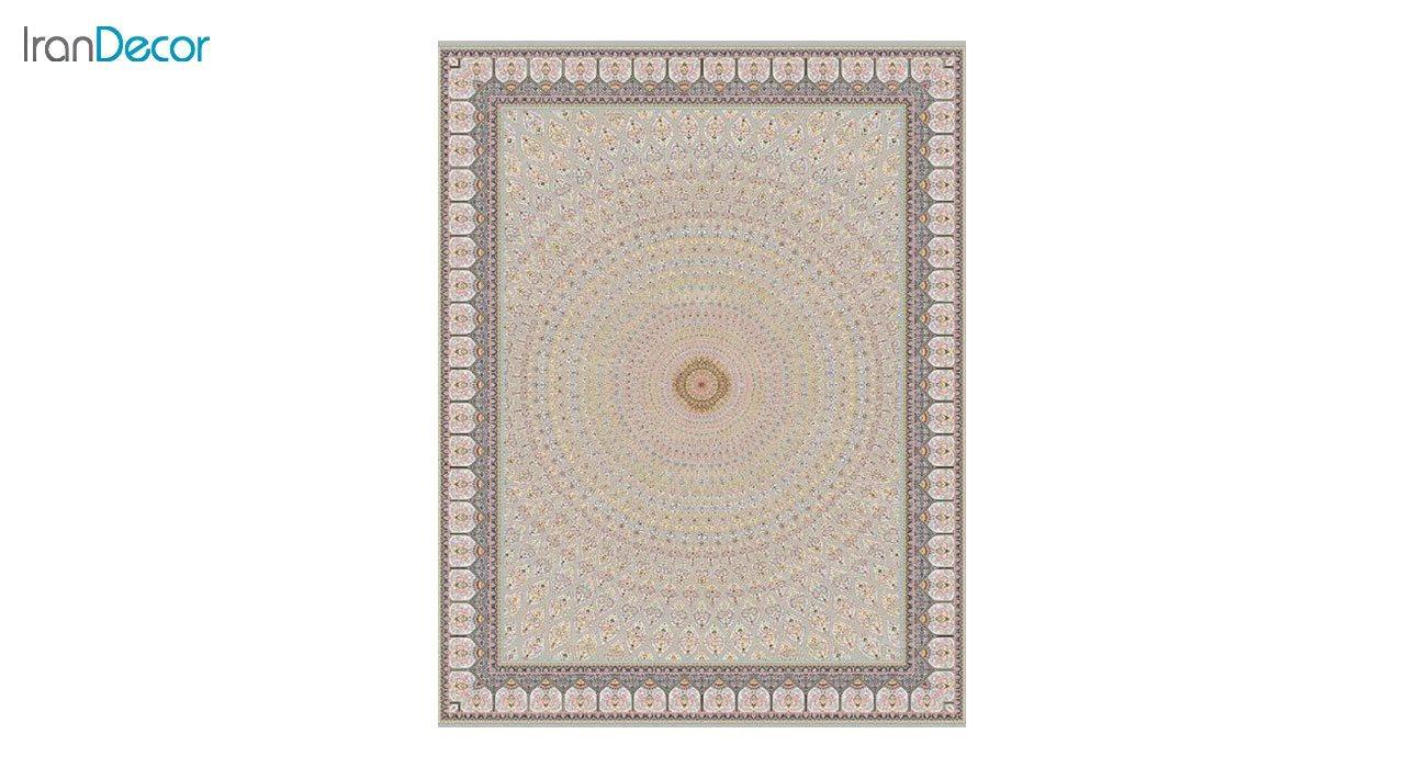 تصویر فرش ماشینی 1200 شانه کشمیر طرح گنبد نقره ای