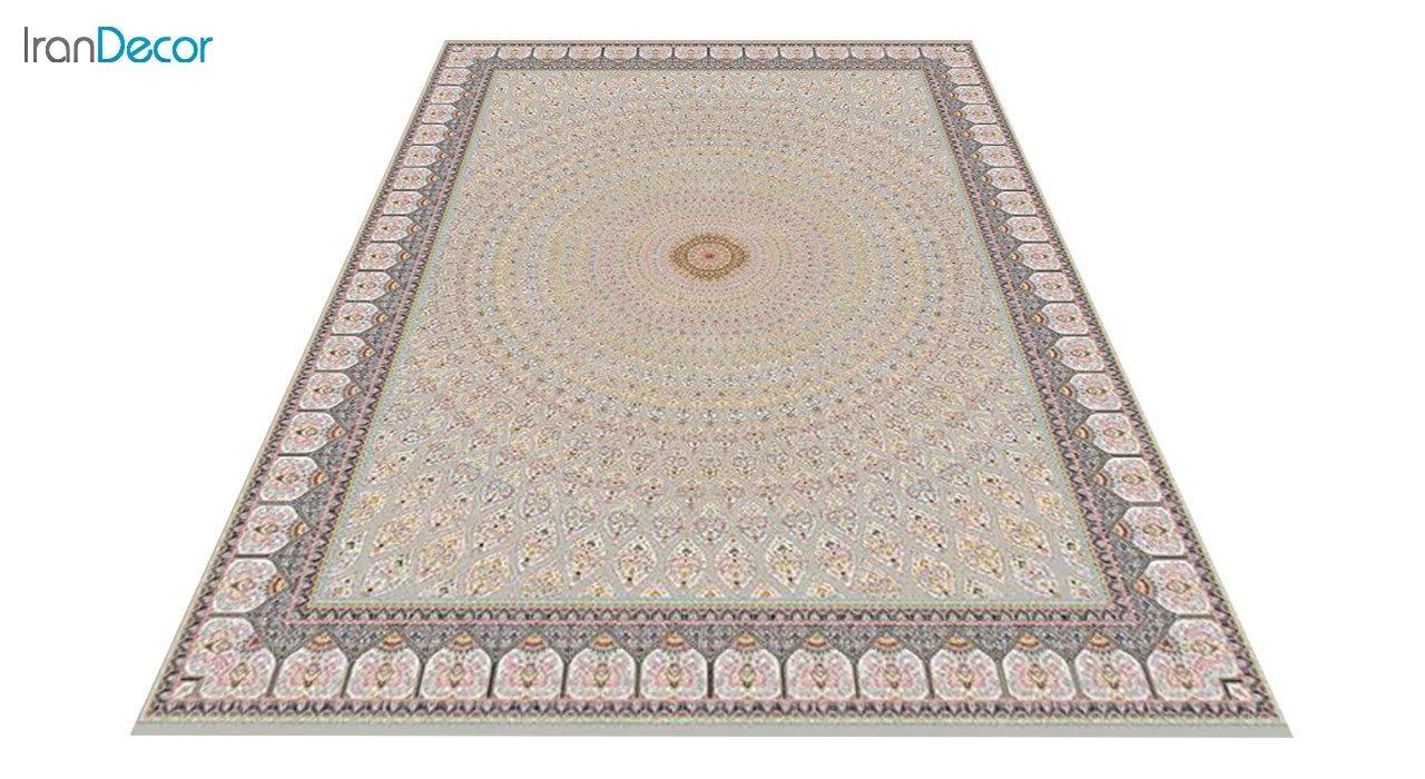 عکس فرش ماشینی 1200 شانه کشمیر طرح گنبد نقره ای
