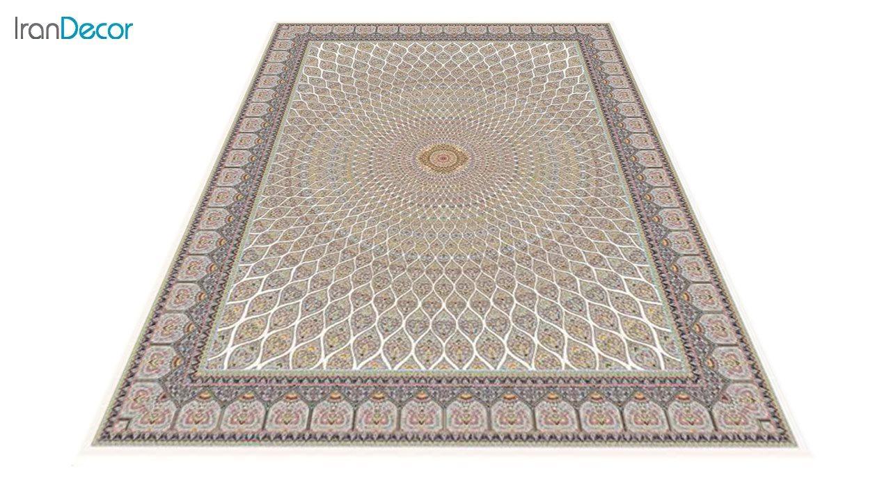 عکس فرش ماشینی 1200 شانه کشمیر طرح گنبد کرم