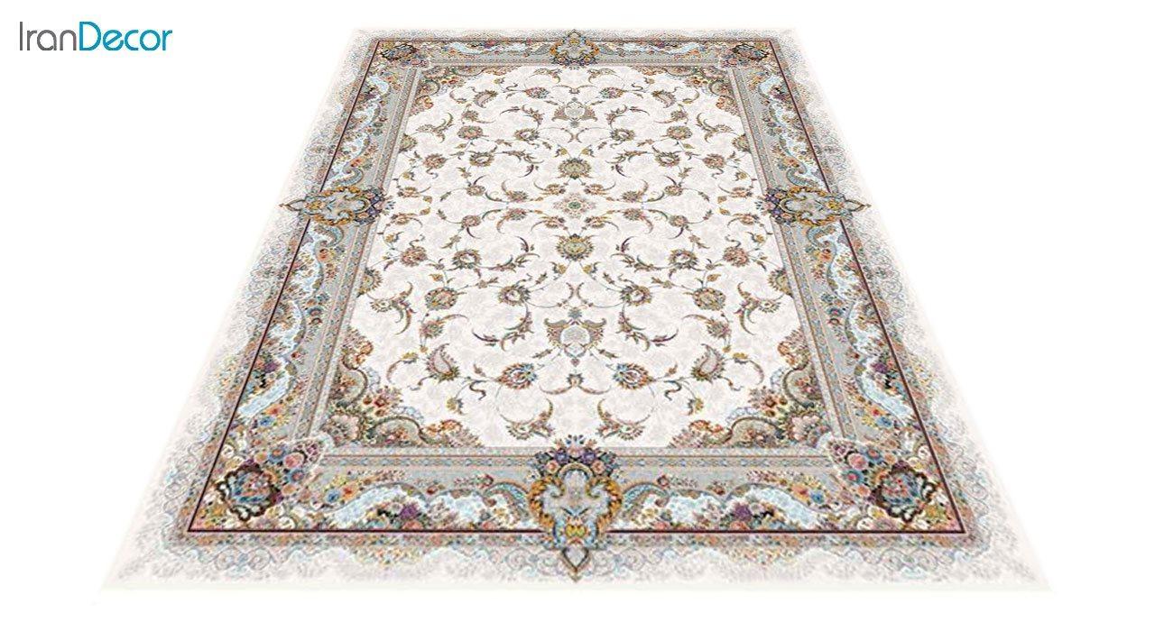 عکس فرش ماشینی 1200 شانه کشمیر طرح سحر کرم