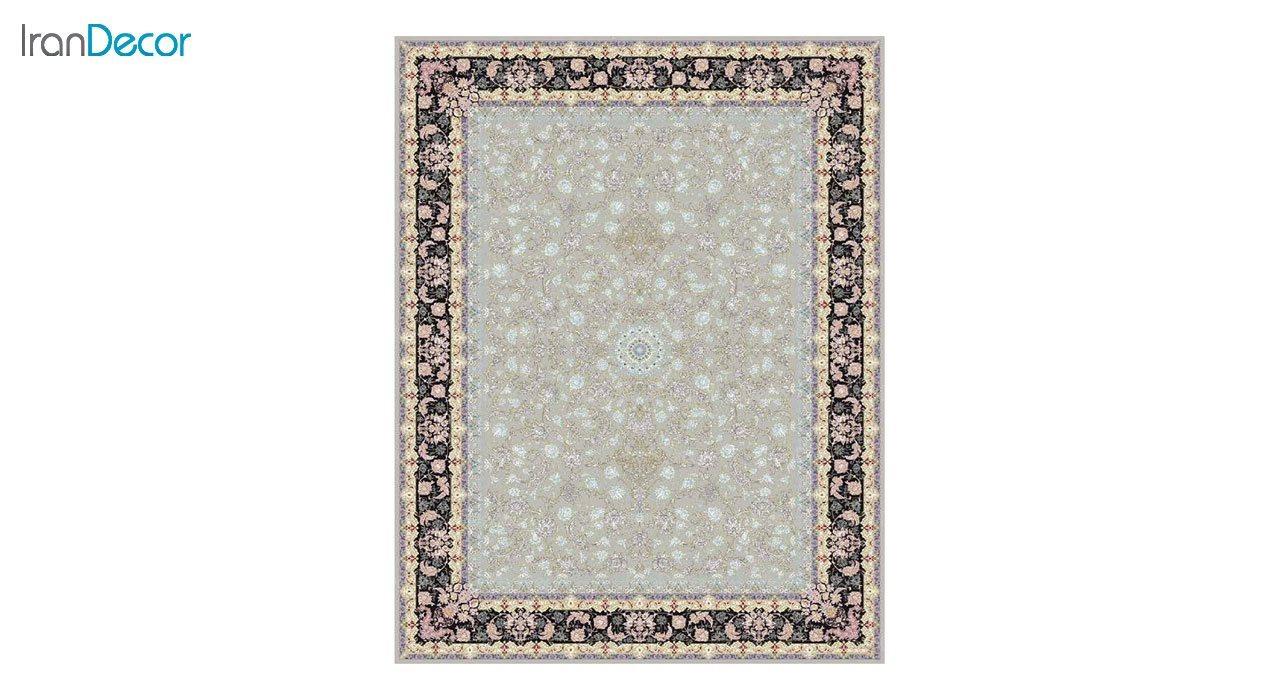 تصویر فرش ماشینی 1200 شانه کشمیر طرح  کاخ نقره ای
