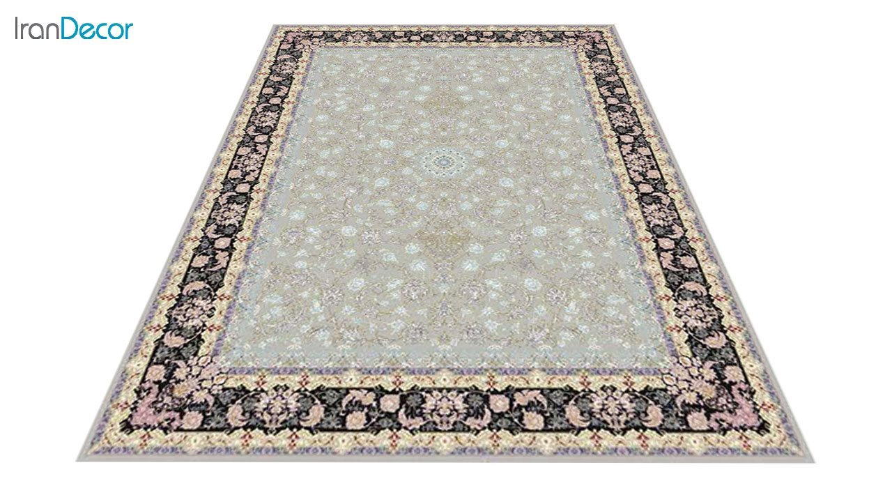 عکس فرش ماشینی 1200 شانه کشمیر طرح  کاخ نقره ای