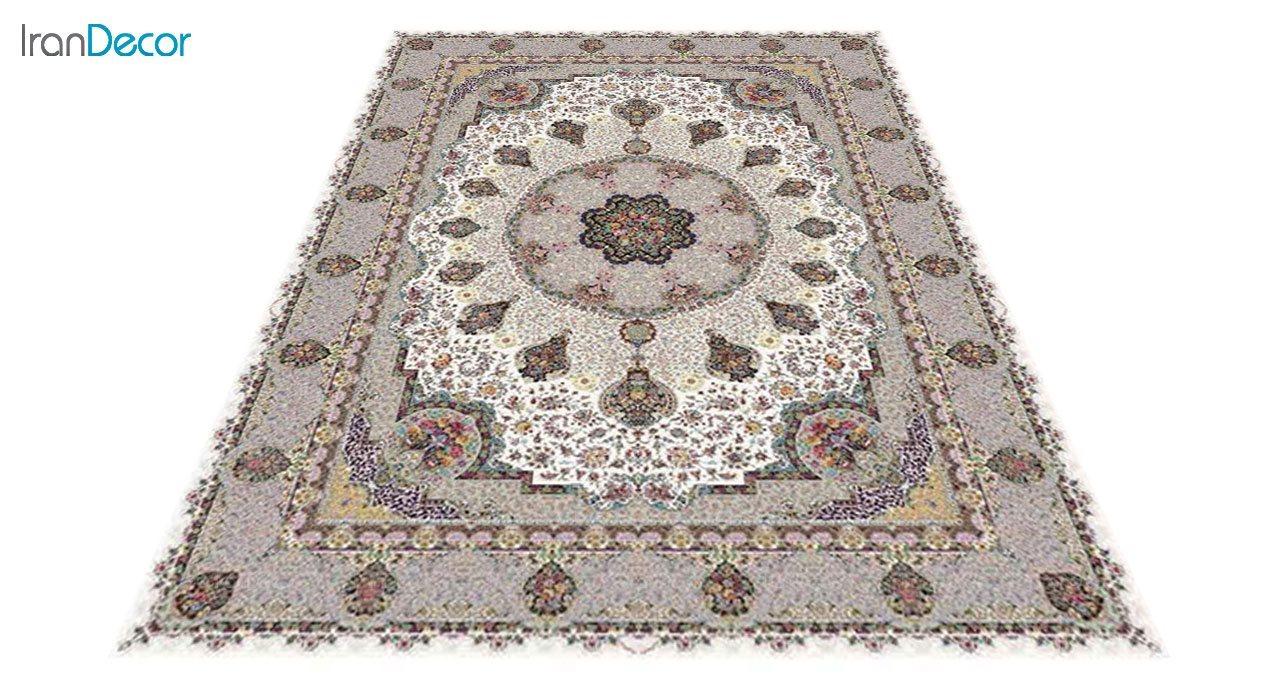 عکس فرش ماشینی 1200 شانه کشمیر طرح گلنوش کرم