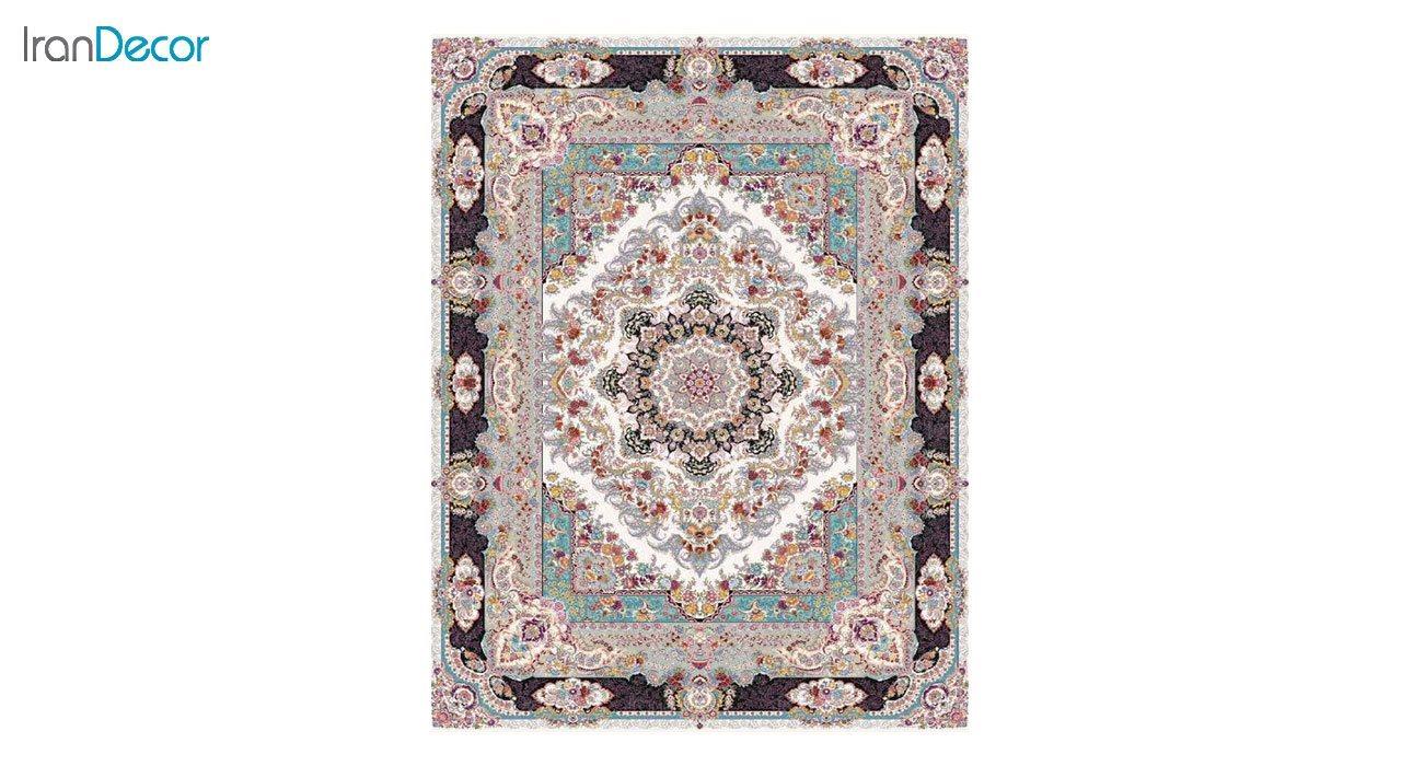 تصویر فرش ماشینی 1200 شانه کشمیر طرح مستان کرم