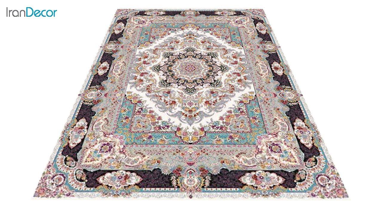 عکس فرش ماشینی 1200 شانه کشمیر طرح مستان کرم