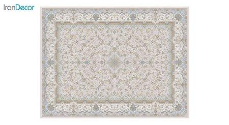 تصویر فرش ماشینی 1200 شانه گل برجسته کشمیر طرح آذرنوش بژ