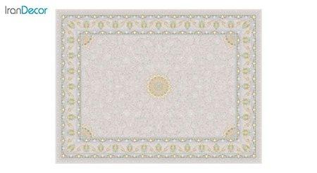 تصویر فرش ماشینی 1200 شانه گل برجسته کشمیر طرح آیلار بژ