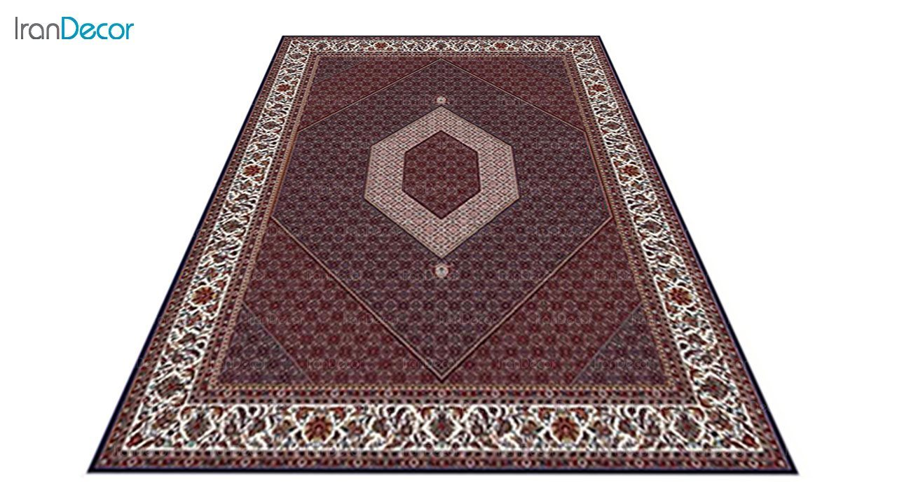 عکس فرش ماشینی 700 شانه کشمیر طرح بیجار تکاب آبی