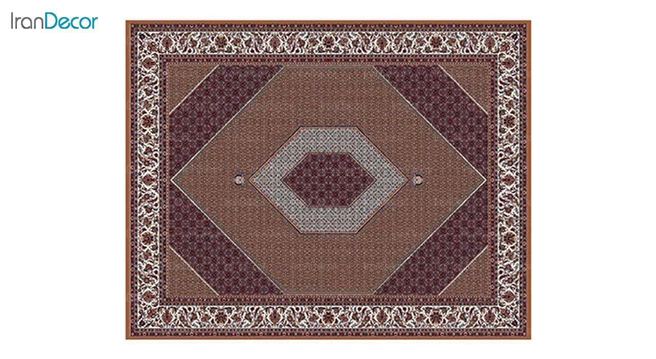 تصویر فرش ماشینی 700 شانه کشمیر طرح بیجار تکاب صورتی