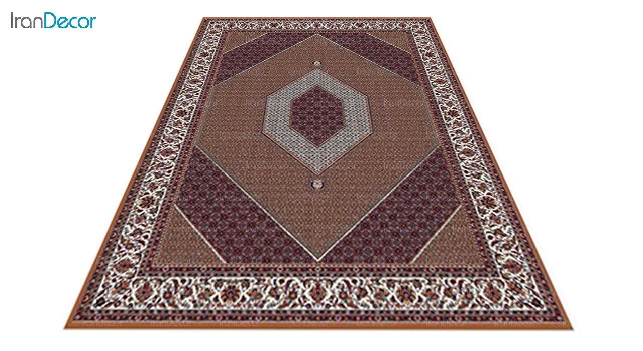 عکس فرش ماشینی 700 شانه کشمیر طرح بیجار تکاب صورتی