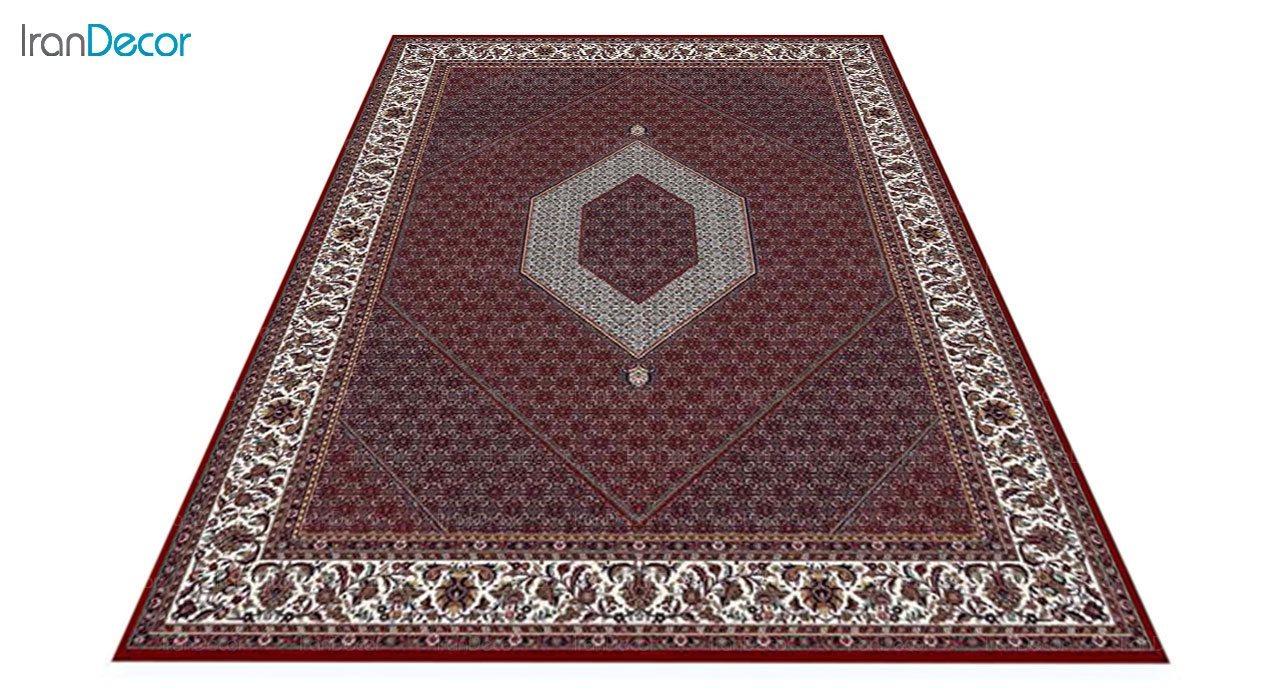 عکس فرش ماشینی 700 شانه کشمیر طرح بیجار تکاب قرمز