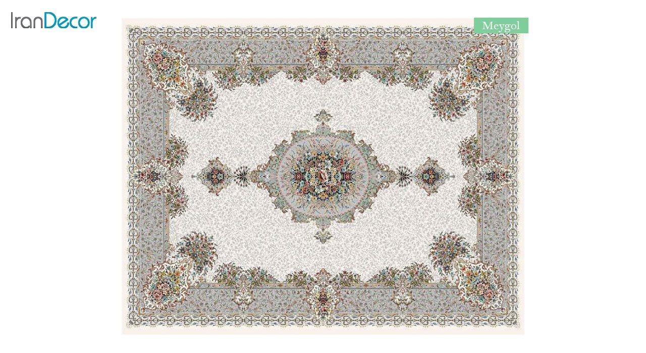 تصویر فرش ماشینی 700 شانه کشمیر طرح می گل کرم